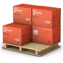 shipment, goods, products, warehouse, palet, shipping icon