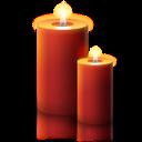 candle, christmas icon