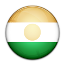 niger, flag, country icon