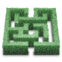 hedge, labyrinth icon