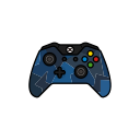 controller, xbox one, blue, gamer, force icon