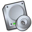 cdrom, hard drive icon
