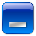Blue, Box, Minimize icon