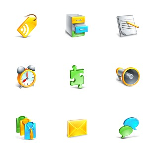 Blogging icon sets preview