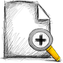 file, zoom, in icon