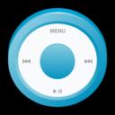 ipod,blue,badge icon