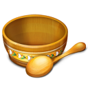 bin, empty, recycle, bowl, eat, spoon, blank, food icon