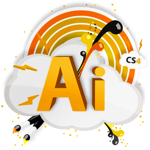 cs4, ai, adobe, cs icon