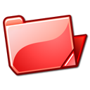 open, red, folder icon