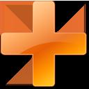 add, orange, plus icon