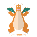 dragon, dragonite, pokemon, kanto icon