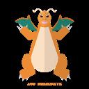 dragon, dragonite, pokemon, kanto icon