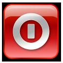 Box, Off, Red, Shutdown, Turn icon