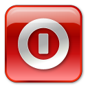turn off, red, box, shutdown icon