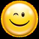 Emotes face wink icon