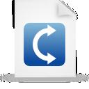 file, blue, paper, document icon