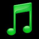 Sidebar Music Green icon