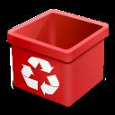 trash red empty icon