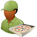 Dark, Male, Pizzadeliveryman icon