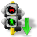 Down, Lights, Traffic icon