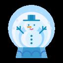 christmas, snowman, winter, snowglobe, snow, man icon