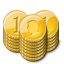 gold, coin, stacks icon