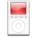 red, ipod, mp3 player icon