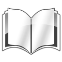old book, library icon