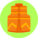 back to the future, vest, clothes icon