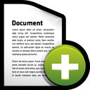 add, file, create, document icon