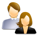 people, users, couple, group icon