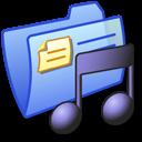 folder, music, blue icon
