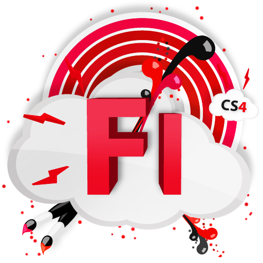 adobe, cs4, fl, cs icon