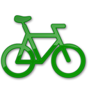 bicycle,green icon