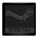 Black, Steam icon
