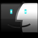 Black, Finder icon