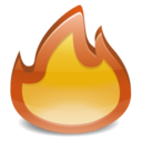 Burn Fire Icon Glossy Status Icon Sets Icon Ninja