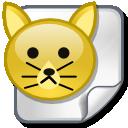 file, cat, animal icon