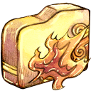 Ele, Fire, Folder icon