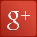 custom, red, googleplus icon