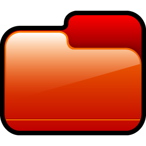 folder, closed, red icon