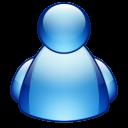 buddy, blue icon