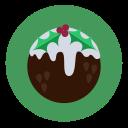 pudding, dessert, fruit cake, christmas, food icon