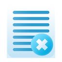 notes, delete icon
