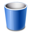 Bin, e, Recycle icon