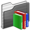library, black, folder icon