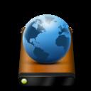 wood,drive,globe icon