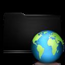 black,folder,web icon