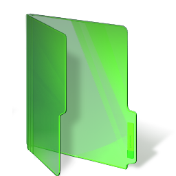 green, folder icon