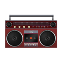 Boombox, Red icon